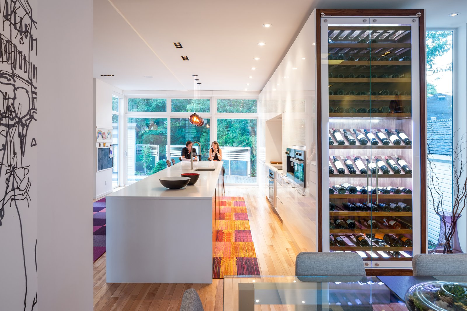 Photo 5 of 5 in Plum Modern Pendant Lighting Adds Pop of Color in Canadian Kitchen