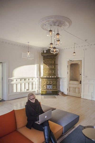 Photo 5 of 5 in Stunning Office Pendant Lighting Display Brightens Swedish Brand's Workspace