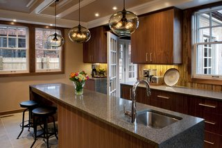 Private Boston Residence Shines Bright with Kitchen Island Pendant Lighting