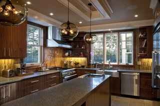 Private Boston Residence Shines Bright with Kitchen Island Pendant Lighting - Photo 3 of 3 -