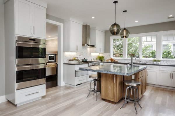Contemporary Kitchen Island Pendants Spotted in California Home - Photo 1 of 4 -