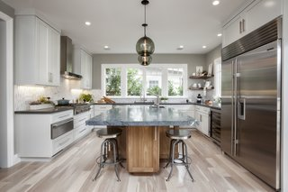 Contemporary Kitchen Island Pendants Spotted in California Home - Photo 3 of 4 -