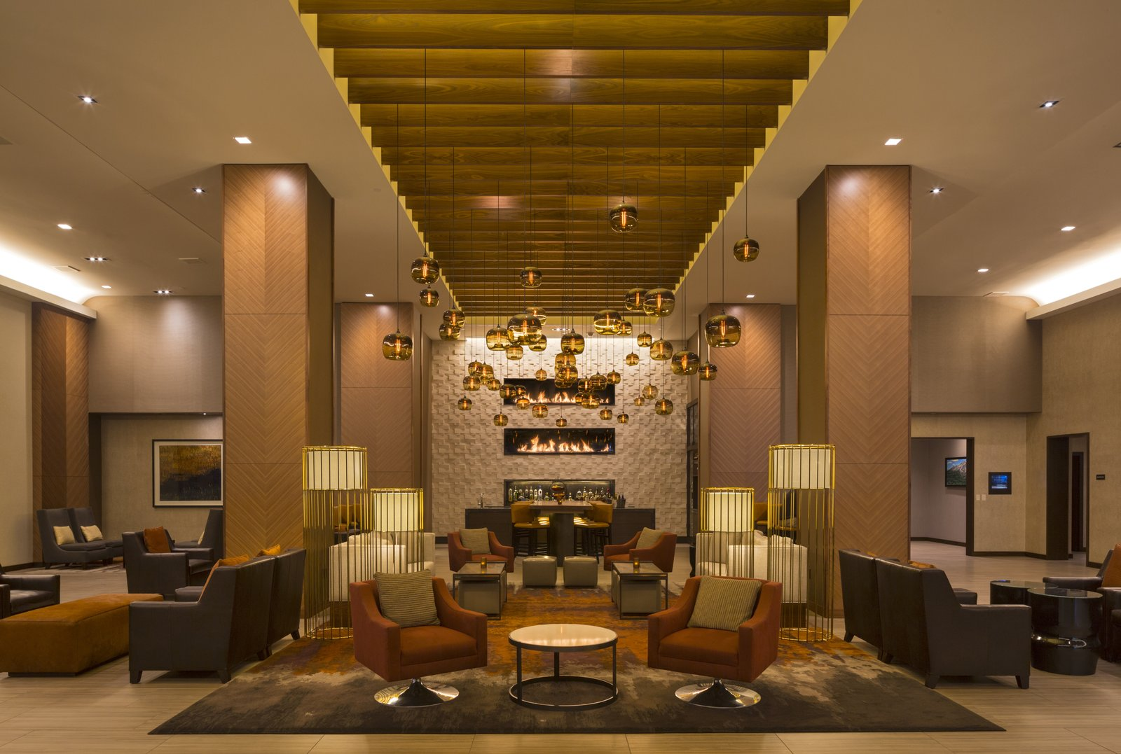 Downtown Denver Hyatt Warms Up With Modern Hotel Lighting