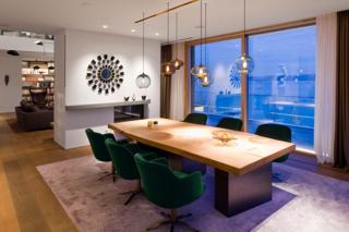 Multi-Pendant Lighting Adorns Lakeside Home in Germany