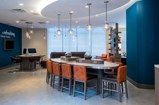 Clear Glass Pendant Lights Add Modern Touch to Even Hotel