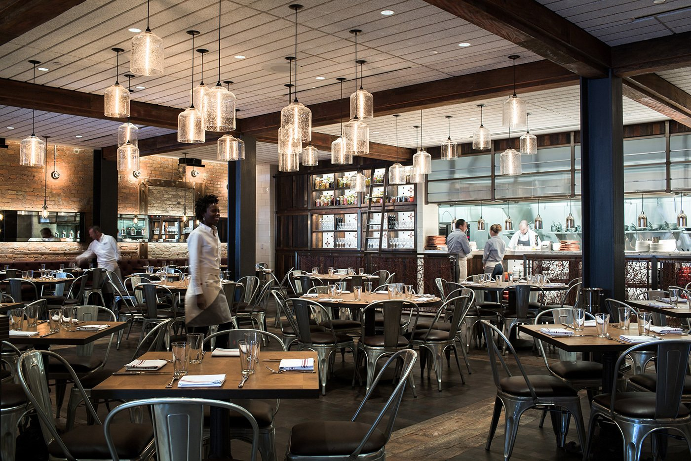 Photo 1 of 4 in Modern Restaurant Pendant Lights Add to Charm of Popular Dallas Eatery