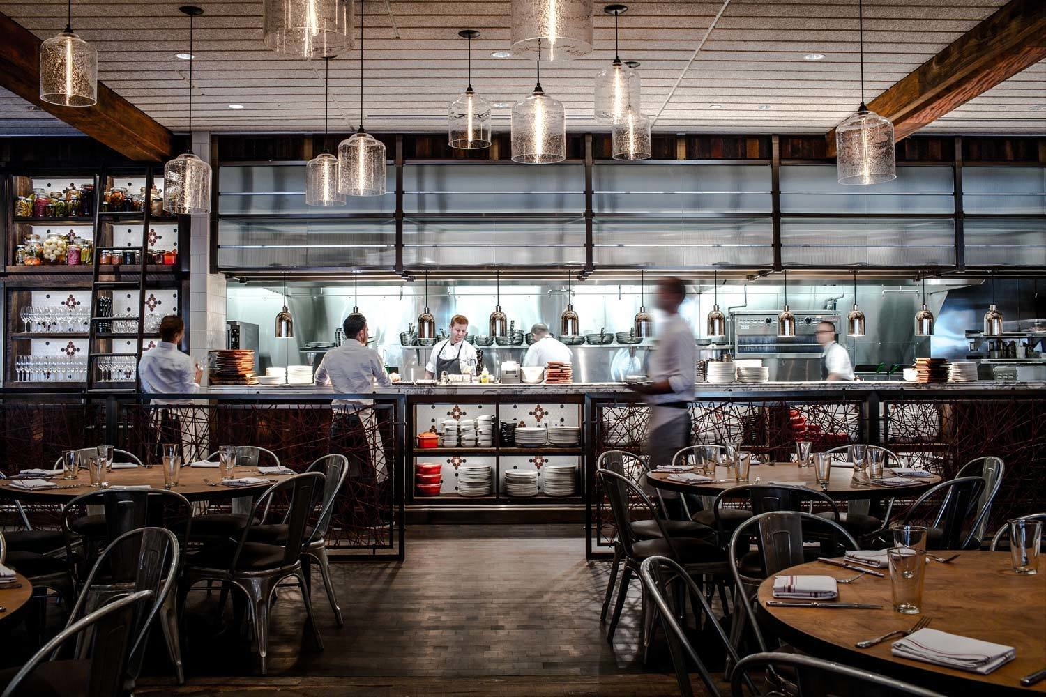 Photo 3 of 4 in Modern Restaurant Pendant Lights Add to Charm of Popular Dallas Eatery