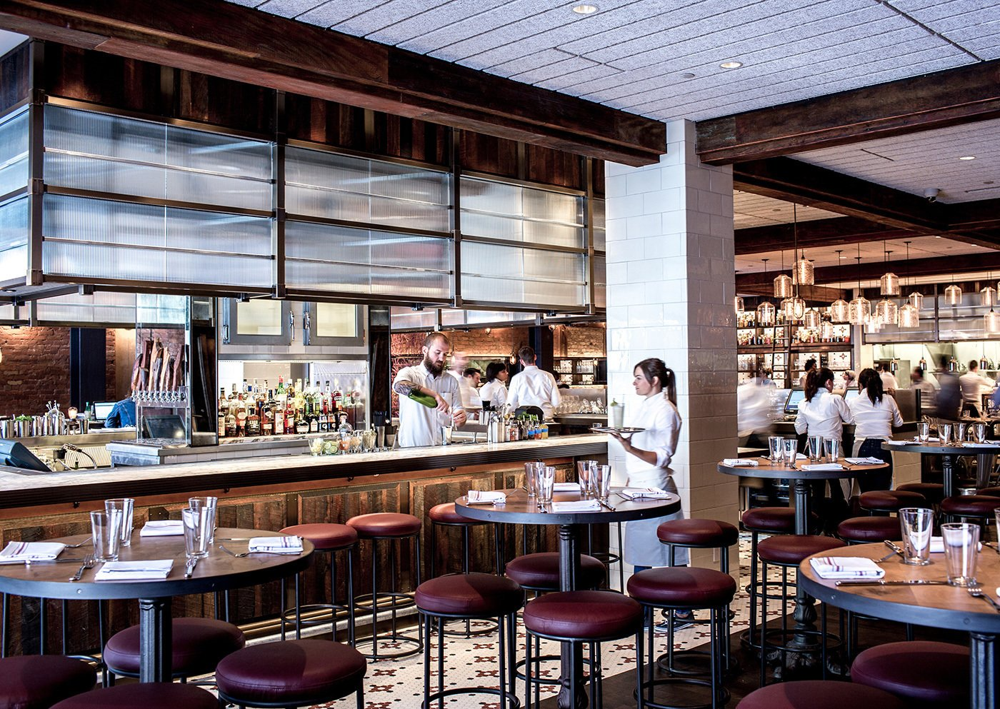 Photo 4 of 4 in Modern Restaurant Pendant Lights Add to Charm of Popular Dallas Eatery