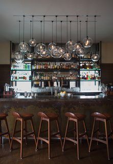 Modern Restaurant Lighting at Adorns Creekside Hotel and Bar