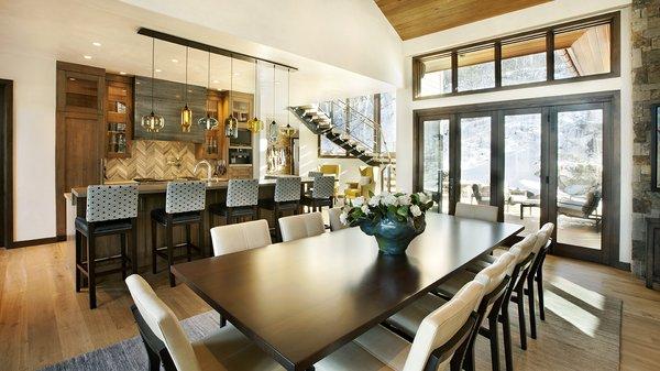 Cozy Colorado Retreat Features Multi-Pendant Modern Lighting