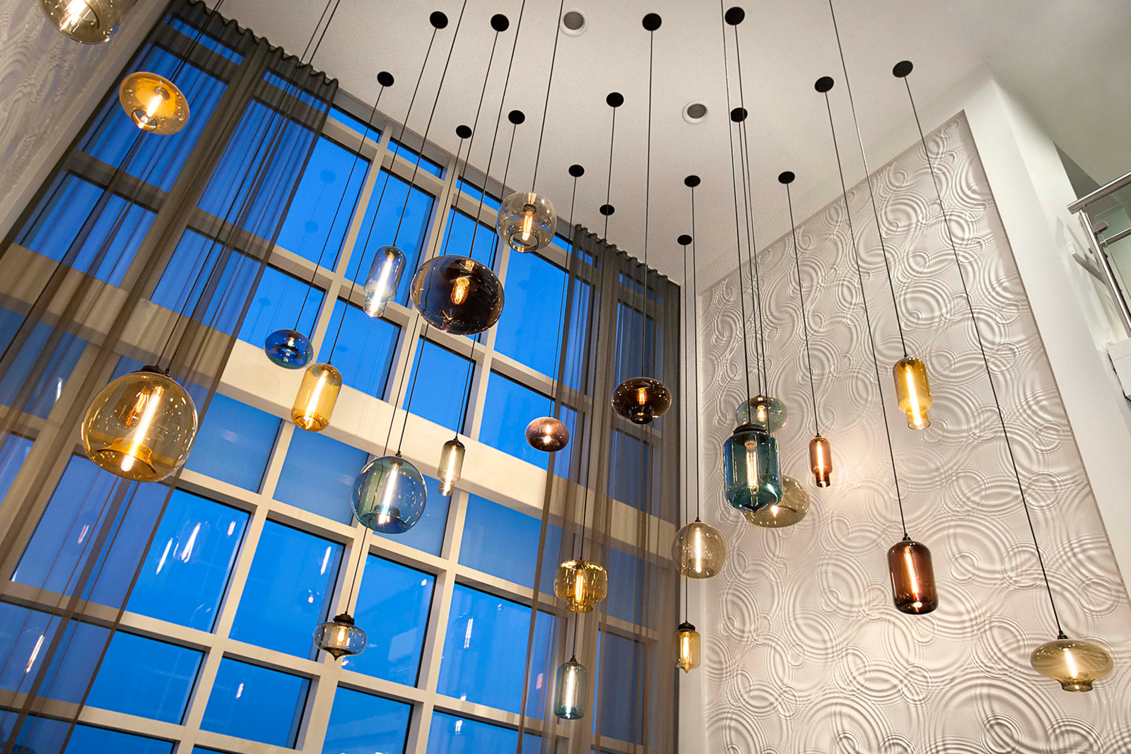Modern Hotel Lighting Adorns Lobby Of Hilton Resort In