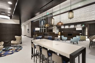 Modern Hotel Lighting Adorns Lobby of Hilton Resort in Myrtle Beach - Photo 3 of 4 -