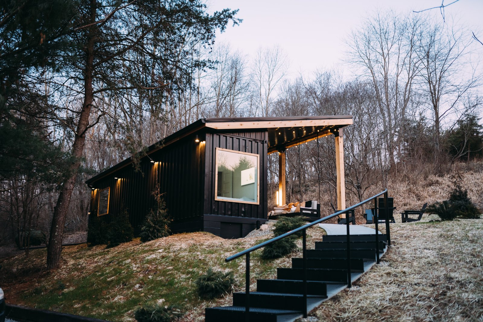 Exterior, Tiny Home Building Type, Metal Roof Material, Metal Siding Material, and Shed RoofLine  Photo 1 of 13 in How a Shipping Container Home Reconnected a Daughter With Memories of Her Father