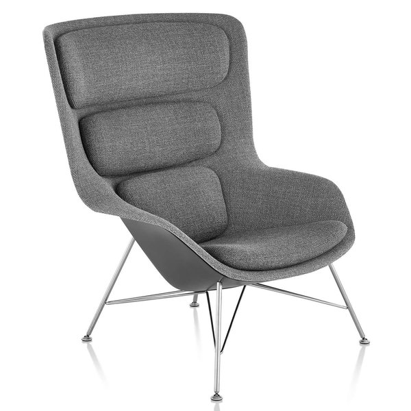 Striad High Back Lounge Chair, Wire Base from Herman Miller