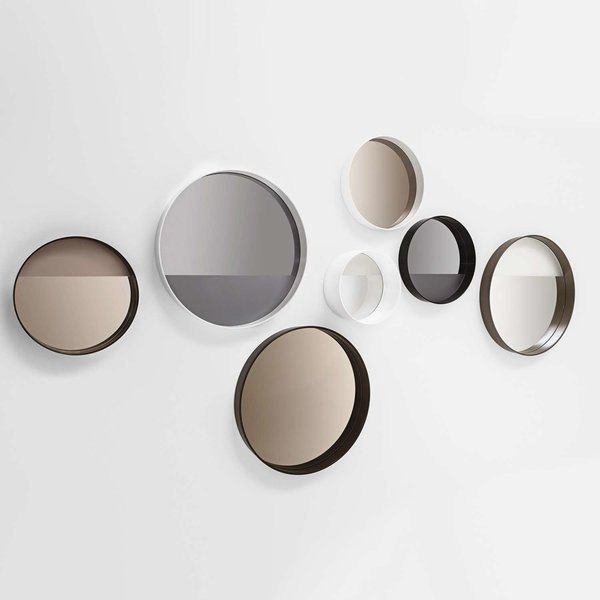 Horizon Mirror with Linear Frosting from Sovet Italia