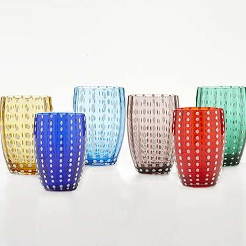 Perle Tumblers, Gift Set of 6 from Zafferano
