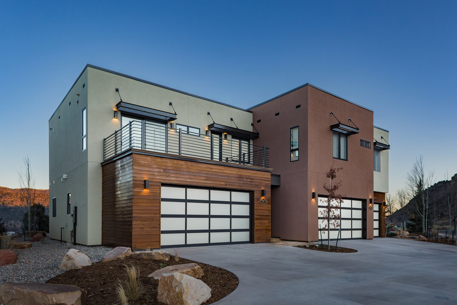 Exterior, Flat RoofLine, Metal Siding Material, House Building Type, and Wood Siding Material  Remarkable Residence with Mountain Views in Colorado Asks $1.29M