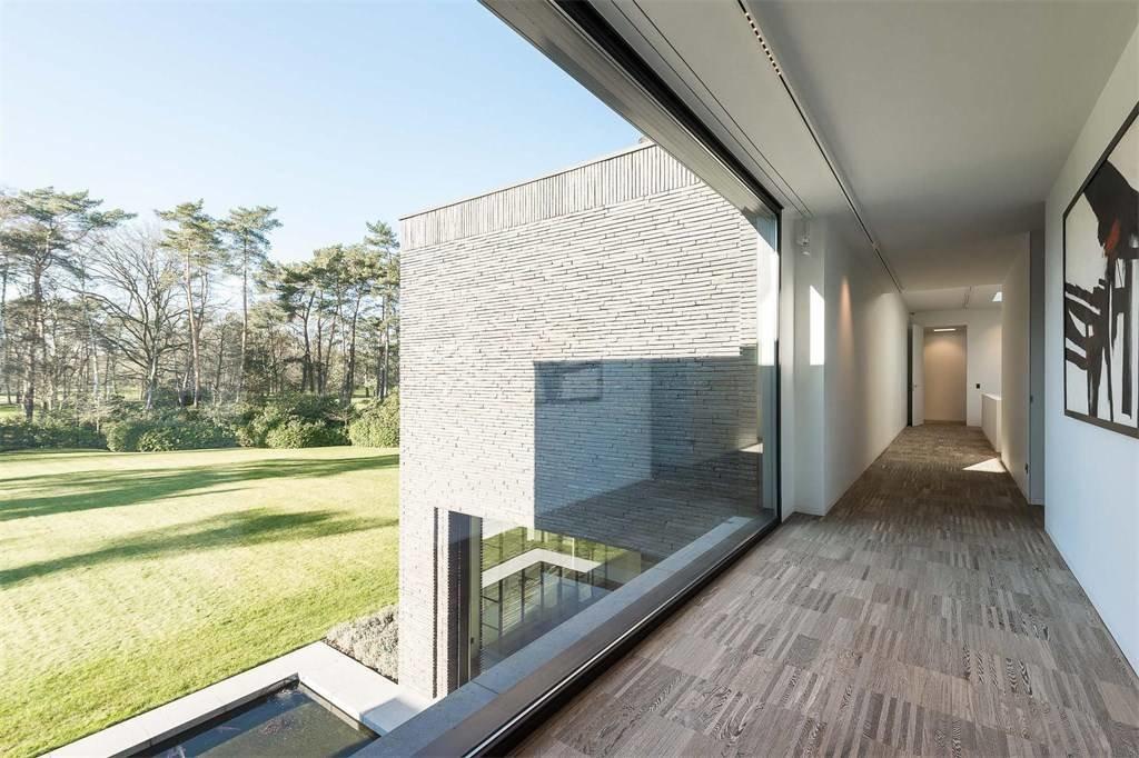 Hallway  Prestigious Modern Villa in Belgium Asks $6.8M