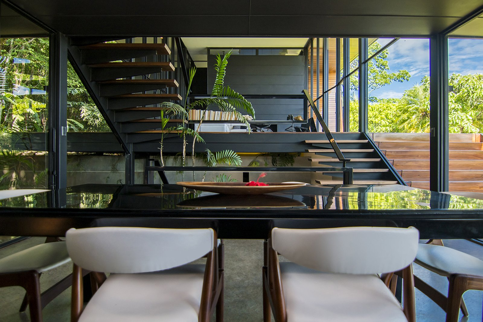 Dining Room, Chair, Table, and Concrete Floor  A Harmonious Forest Residence in Costa Rica Asks $1.05M