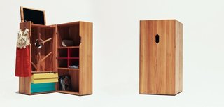 Think Beyond the Nursery Days With These 11 Hardworking Pieces For Your Kid's Room - Photo 5 of 7 - The Trunk features a hat tree, flip-up mirror, cubby holes for shoes or papers, two drawers, and two large shelves for additional storage.