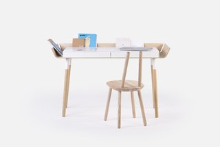 """When Lithuanian-born Designer Inesa Malafej designed """"My writing desk"""" (MWD) for Emko, she was aiming to reduce clutter that creative work brings to the table."""
