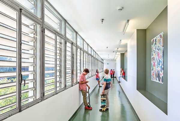 DSH // architecture carried out an adaptive reuse project, which preserved key elements of Welton Becket's original design, but modified the interior.  Photo 5 of 10 in 9 Inspirational Examples of Adaptive Reuse