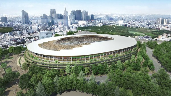 Designed to resemble a traditional Japanese temple, Kuma won the bid to construct the Japan National Stadium for the 2020 Olympics when the Prime Minister scrapped the original plan to go with Zaha Hadid in favor of homegrown talent.  Photo 13 of 13 in Architect Spotlight: 12 Works by Japanese Architect Kengo Kuma