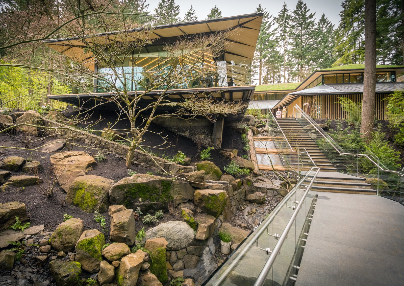 Outdoor and Garden An exterior view of the Umami Cafe.  Photo 6 of 8 in Take a Tour of Kengo Kuma's Expansion of the Portland Japanese Garden