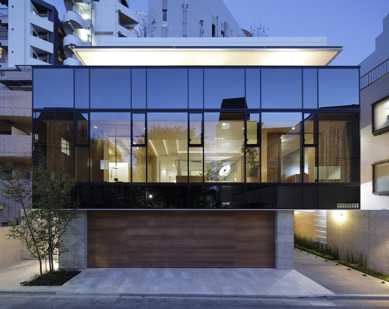 Glass is the star feature of this modernist home in Japan.  Photo 10 of 11 in Glass Takes Center Stage in These 10 See-Through Homes