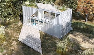 Based in Sacramento, California, TAYNR specializes in prefab homes built from shipping containers.
