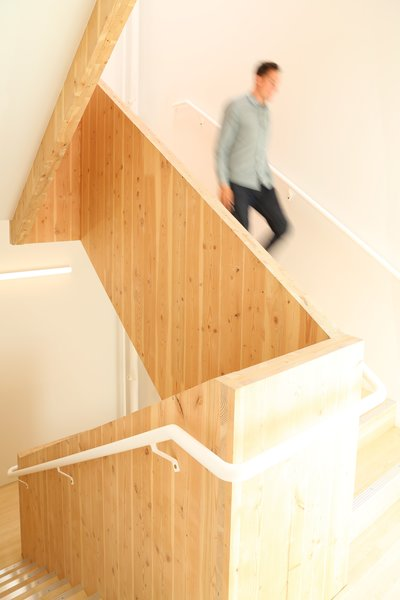 Staircase CLT panels have a three-ply thickness.