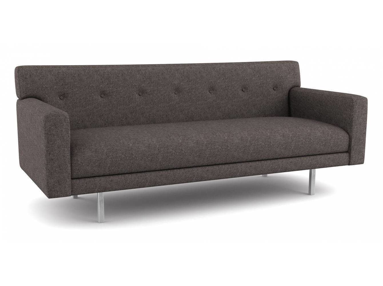 Thanks to its shallow frame, this compact modern sofa fits well into small spaces. It's sophisticated, retro design comes in over 2,000 environmentally-friendly fabric options—or you have the option to provide your own.  Photo 5 of 12 in 10 Functional Pieces For Small Space Living