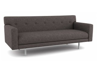 10 Functional Pieces For Small Space Living - Photo 4 of 11 - Thanks to its shallow frame, this compact modern sofa fits well into small spaces. Its simple, retro design comes in over 2,000 environmentally-friendly fabrics—or you have the option to provide your own.
