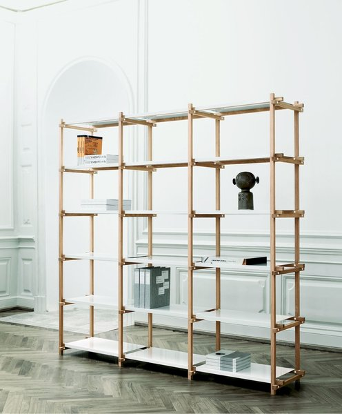 Storage Room and Shelves Storage Type The Woody was originally designed for inventory use, but after much demand this ladder-inspired shelving system was soon put into commercial production.  Photo 10 of 12 in 10 Functional Pieces For Small Space Living
