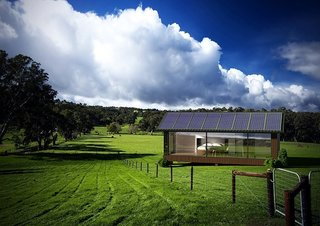 The ability for the home to be thoroughly self-sufficient makes it possible to live off the grid.