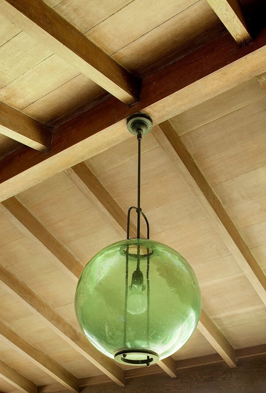 Yeon re-purposed a Japanese fishing buoy into a lighting fixture which became the inspiration for the  Photo 6 of 15 in Spotlight on John Yeon, the Father of Northwest Regional Architecture