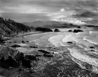 Shown here is Chapman Point, a view south from Ecola State Park in 1994. Yeon purchased this segment of the Oregon coast to preserve it from development.