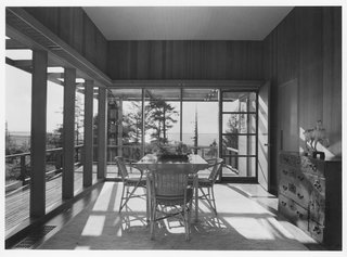 Interiors of the Lynn and Vera Vietor House in Indianola, California, 1941. This was the only residence Yeon built outside of Oregon for a California engineer and industrialist and his nature-loving wife.