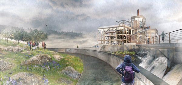 Snøhetta Designs a New Riverwalk That Will Bring Public Access to Oregon City's Willamette Falls