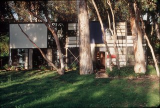 The Eames House by Charles and Ray Eames in Los Angeles' Pacific Palisades neighborhood.