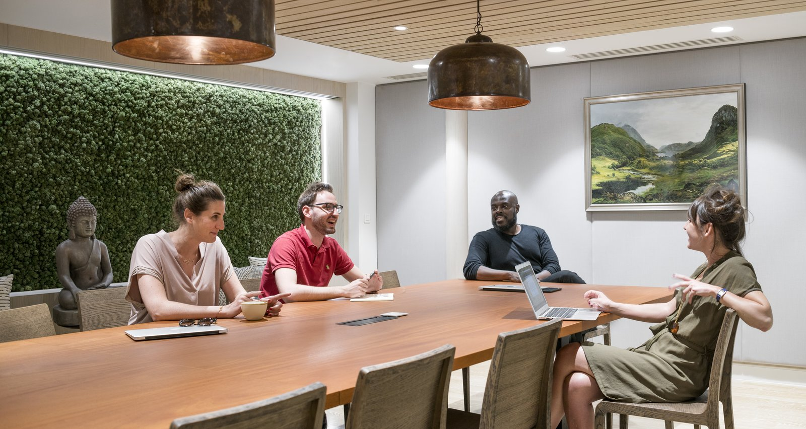Even the meeting rooms take on the travel spirit of the company.  Photo 11 of 14 in Take a Peek Inside Airbnb's New Loft-Inspired Office Space in Paris