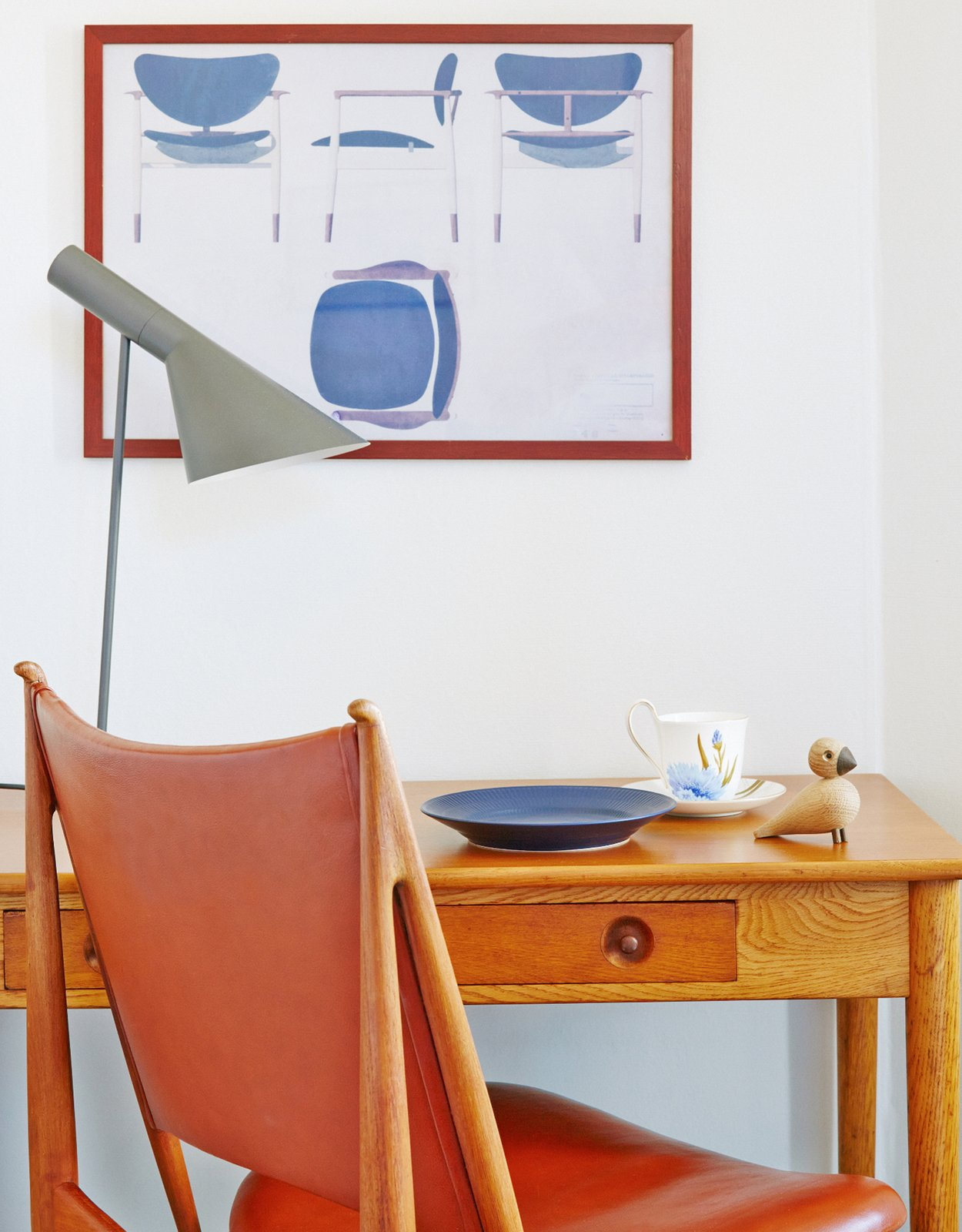 Office, Chair, Lamps, and Desk Finn Juhl Deluxe Room  Photo 6 of 9 in Get Your Fix of Midcentury Scandinavian Design at This Copenhagen Hotel