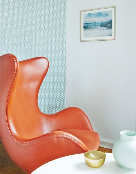 Living Room, Chair, and Coffee Tables Arne Jacobsen deluxe room  Photo 8 of 9 in Get Your Fix of Midcentury Scandinavian Design at This Copenhagen Hotel