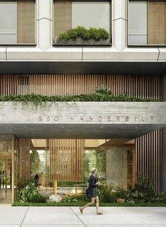 Gardens have been heavily integrated into the design of 550 Vanderbilt.