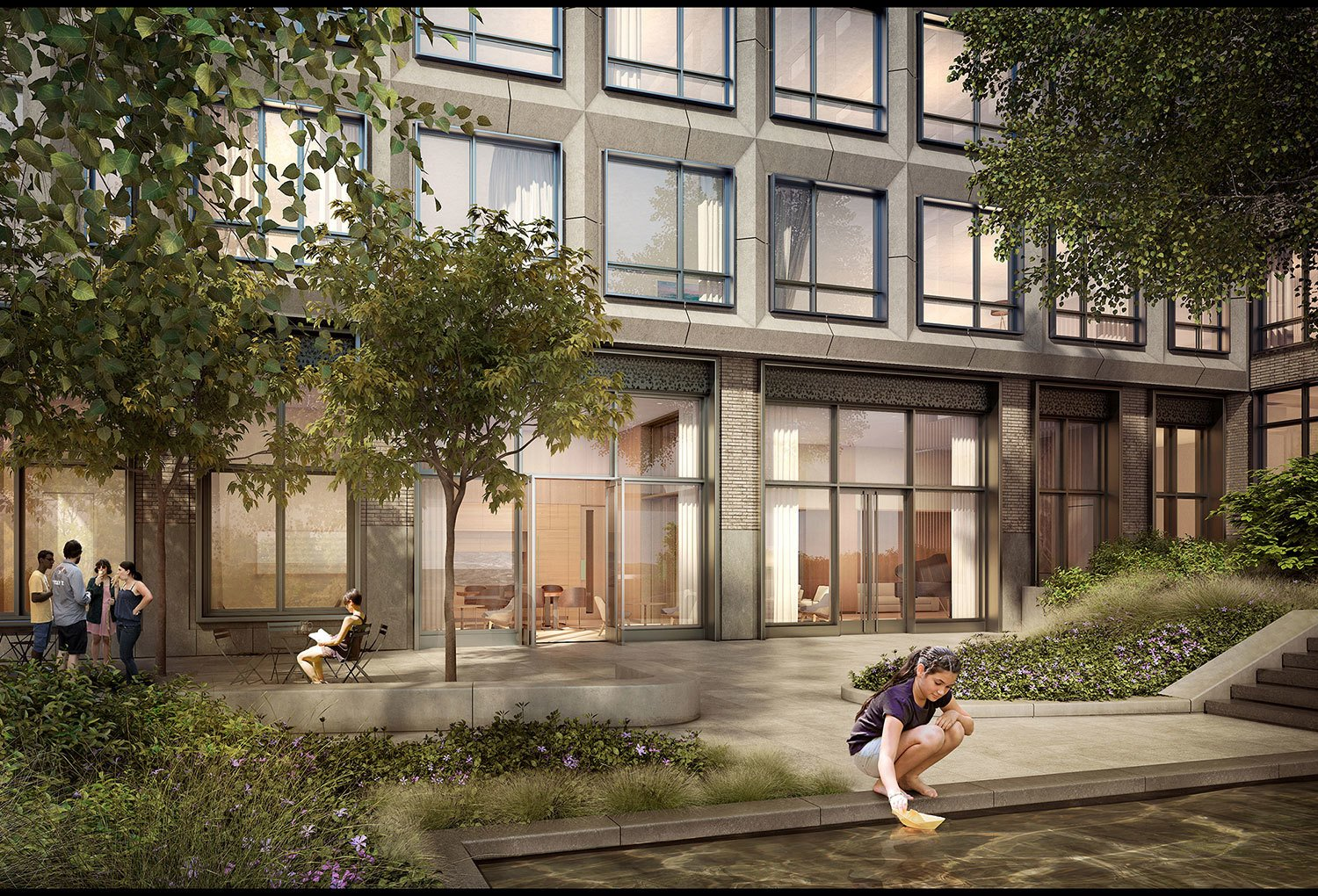 550 Vanderbilt residents will have the urban luxury of courtyard green space.  Photo 3 of 8 in 3 New York City Residential Projects That Feature DIY Urban Gardens