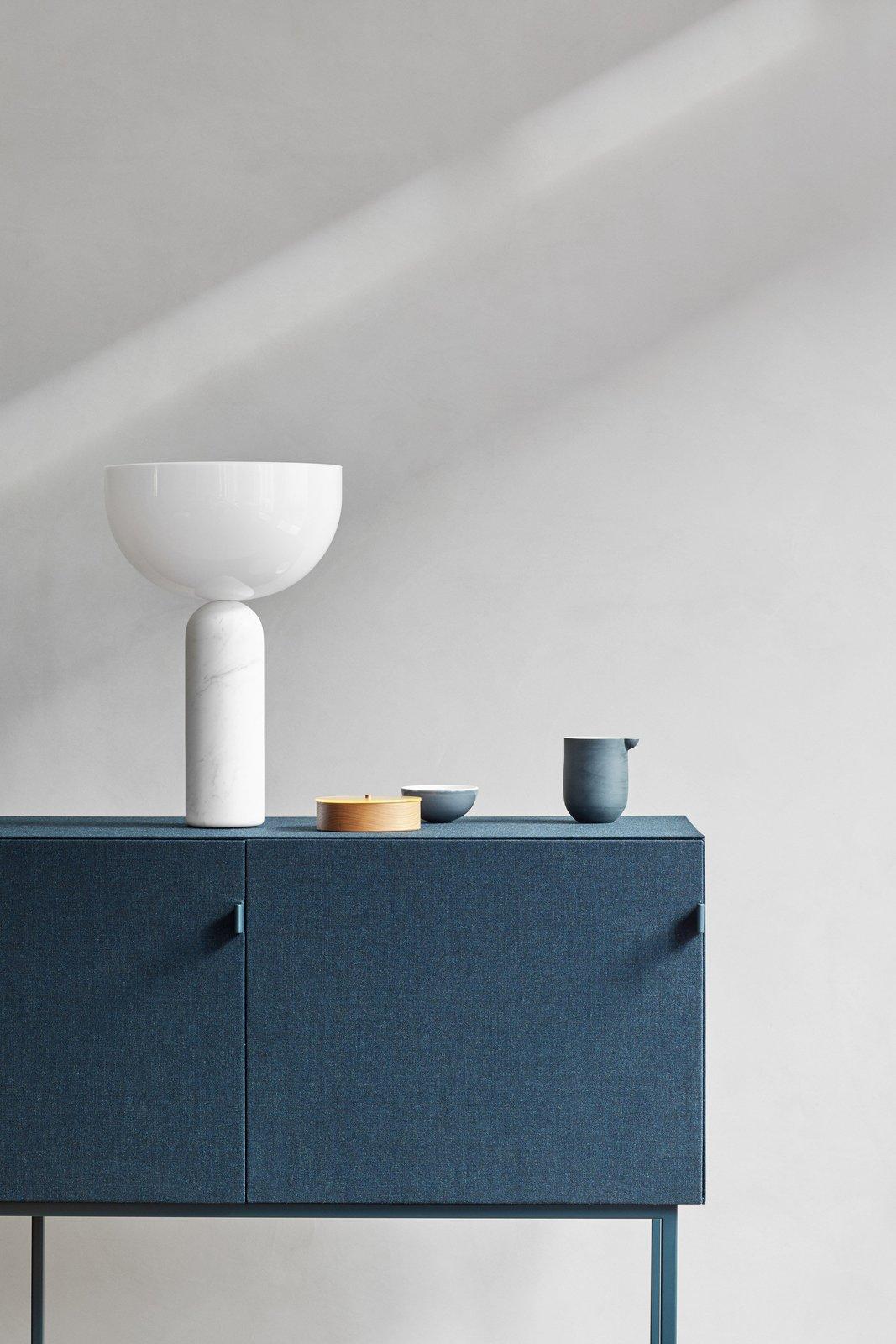 Tone sound-absorbing cabinet in blue.  Photo 10 of 12 in Spotlight on Multidisciplinary Danish Design Studio, Norm Architects