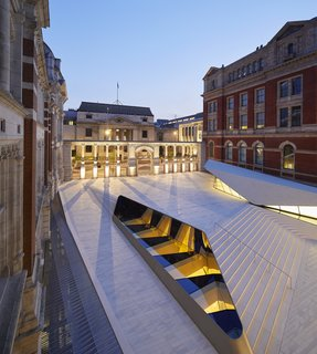 Part of an Epic Expansion, London's V&A Museum Paves its Courtyard With 11,000 Porcelain Tiles - Photo 9 of 10 -