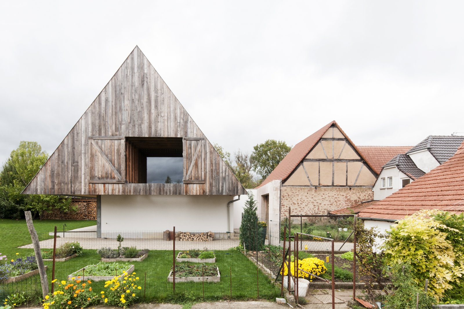 This  suburban Alsatian home was reworked into a contemporary version by Gens Architects  Photo 3 of 17 in A New Book Examines the Art of Breathing Life Into Forgotten Architecture