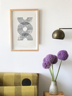 """The Block Shop Sisters Launch Their Framed Woodblock Prints at Rachel Comey's L.A. Boutique - Photo 2 of 8 - """"Magnet"""" was inspired by crop circles and the way they're seen from above."""