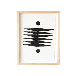 """The Block Shop Sisters Launch Their Framed Woodblock Prints at Rachel Comey's L.A. Boutique - Photo 3 of 8 - """"Bengal"""" features Block Shop's take on tiger stripes."""